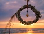 Sea Gypsy Dream Catcher Natural Abundance dream catcher with feathers and citrine