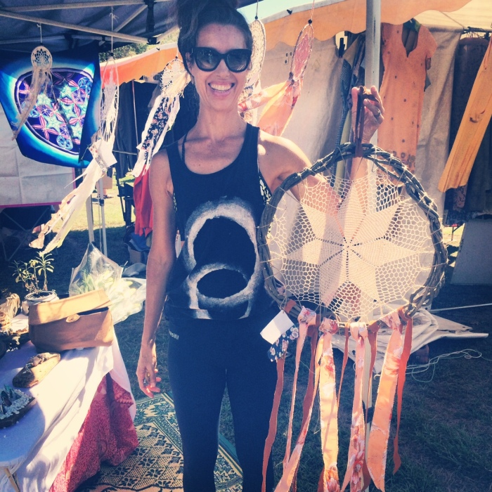 Nikki with here new sea Gypsy Treasures Dream Catcher